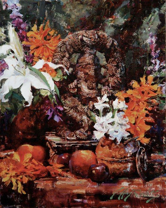Jeffrey Watts 1970   American Impressionist painter