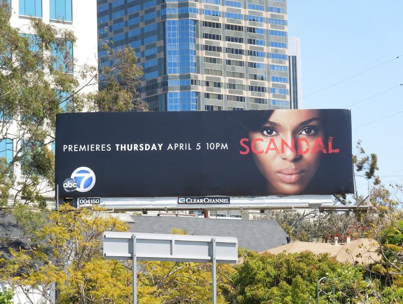Scandal TV billboard
