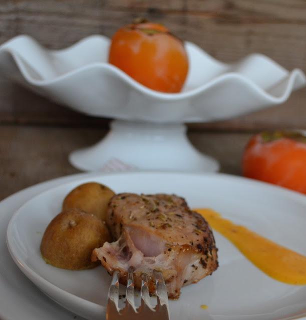 Ricetta filetto di maiale con salsa ai cachi