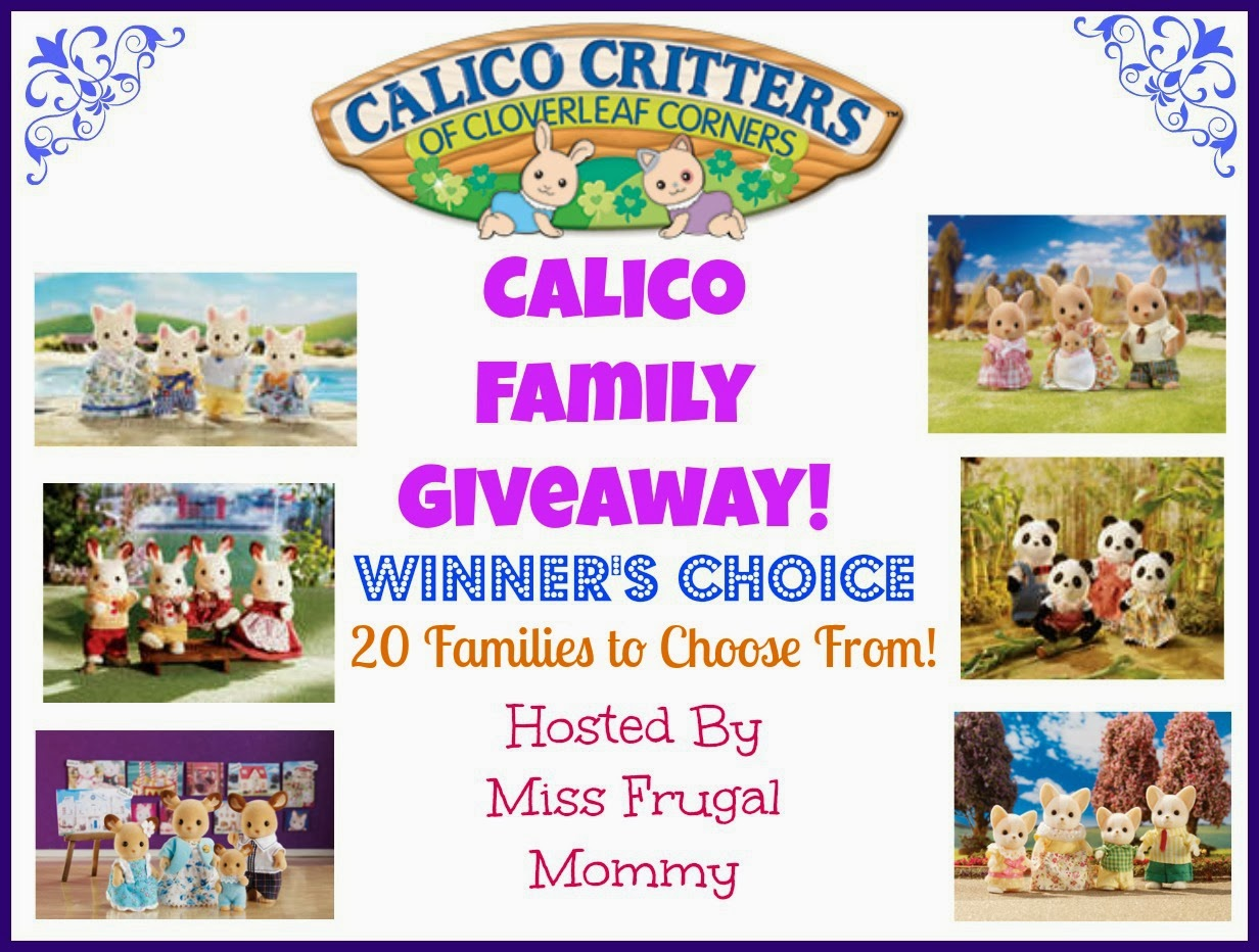 Calico Critters Family Giveaway 3/8-3/23 (Mommy Knows What's Best)