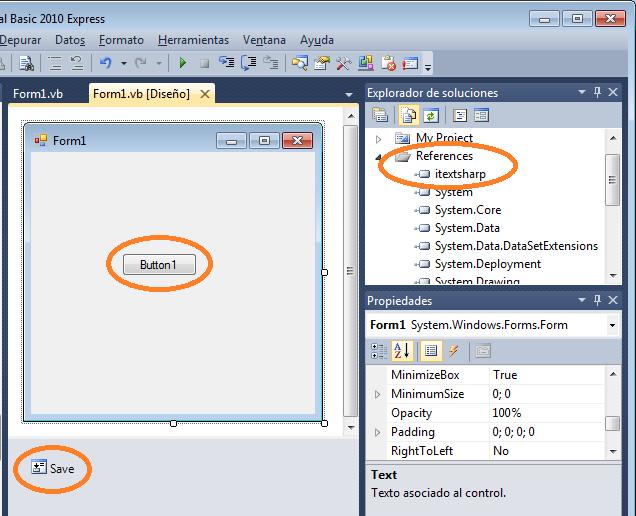 iTextSharp y VB .Net: Texto simple - Tecnología, Ofimática y ...