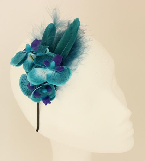 Colección Orquídea - Diadema azul