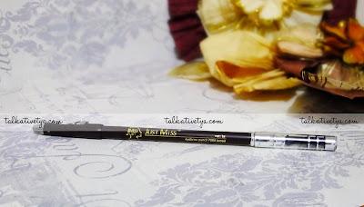 Just Miss Eyebrow Pencil 708A dark brown dengan dua fitur rautan dan sikat alis