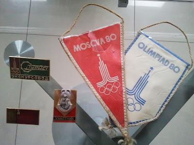 Вымпелы и значки с символикой Московской олимпиады