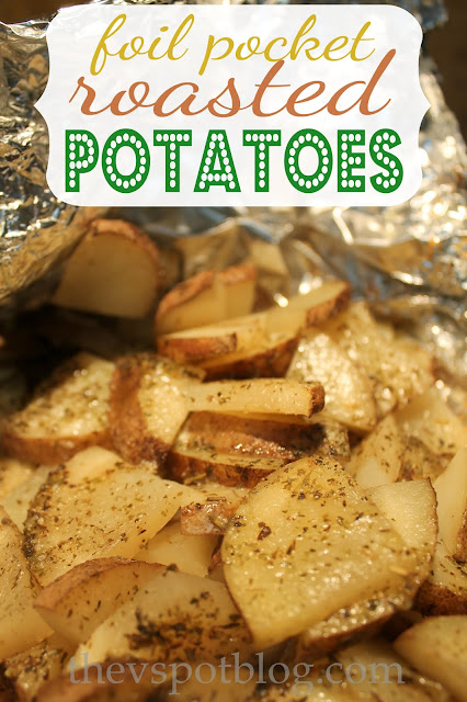 Easy roasted potatoes - all you need is foil!