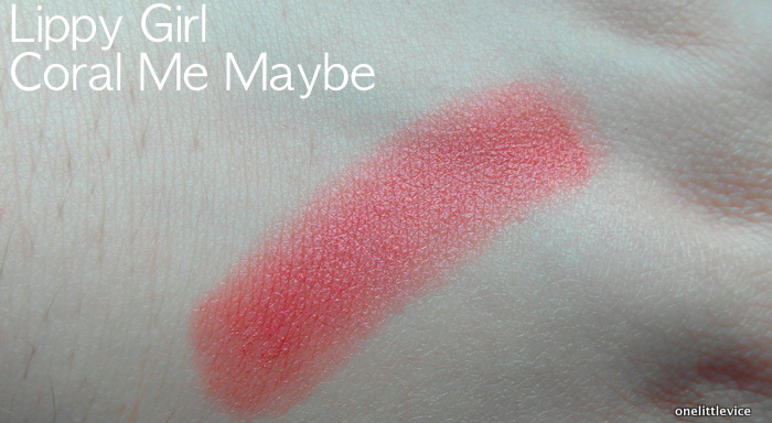 One Little Vice Beauty Blog: Vegan Lipstick Pink Summer Shade