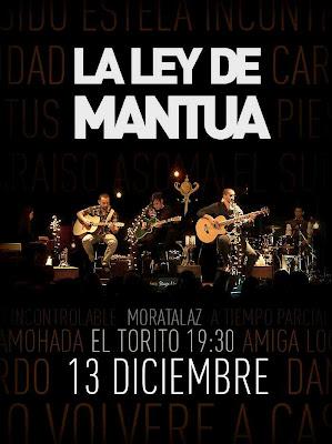 Cartel del concierto de la Ley de Mantua.