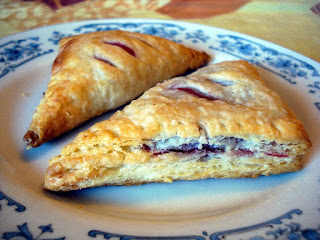 flaky buttery strawberry turnovers