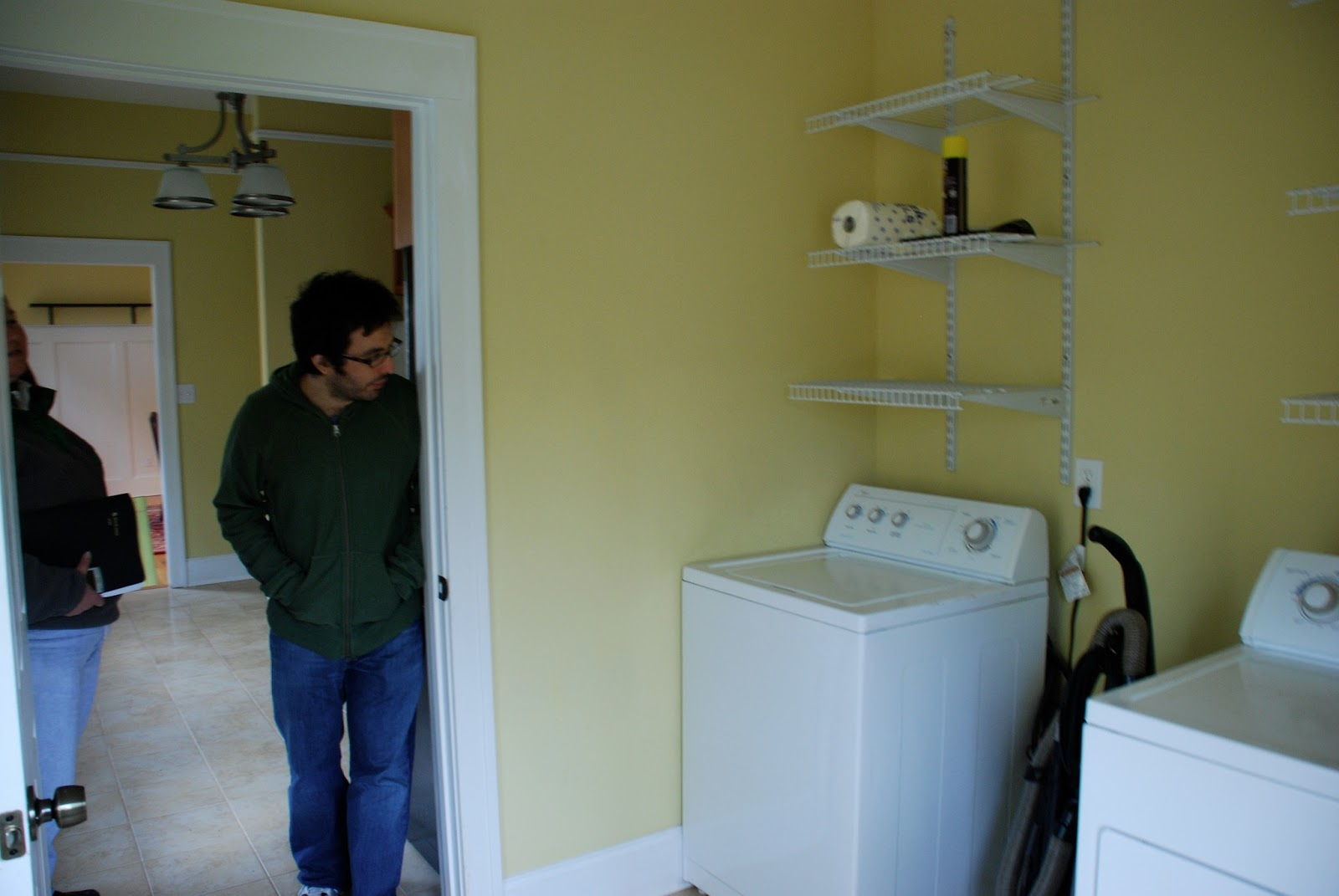 Laundry Room When We First Saw The Home In 2009 Whole House Was Painted Hot Urine As You Can See It Just A Pass Through To Outside With