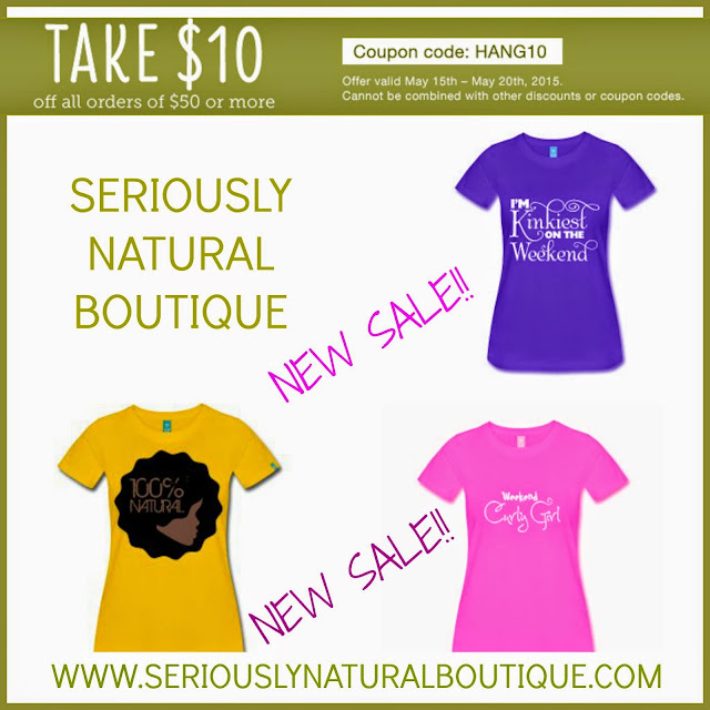 $10 Off All Orders of $50 Or More At Seriously Natural Boutique!