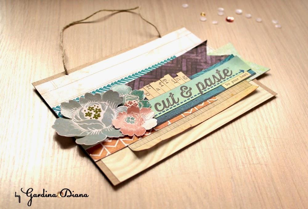 Как красиво использовать остатки бумаги в скрапе