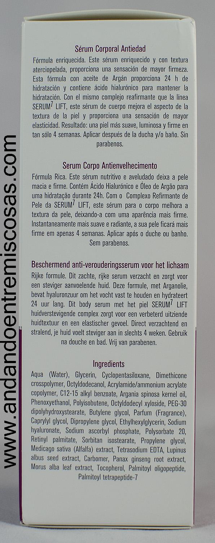 Boots Laboratories, Sérum corporal