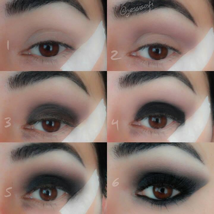 Maquillaje ojos ahumados noche for Como maquillar ojos ahumados paso a paso