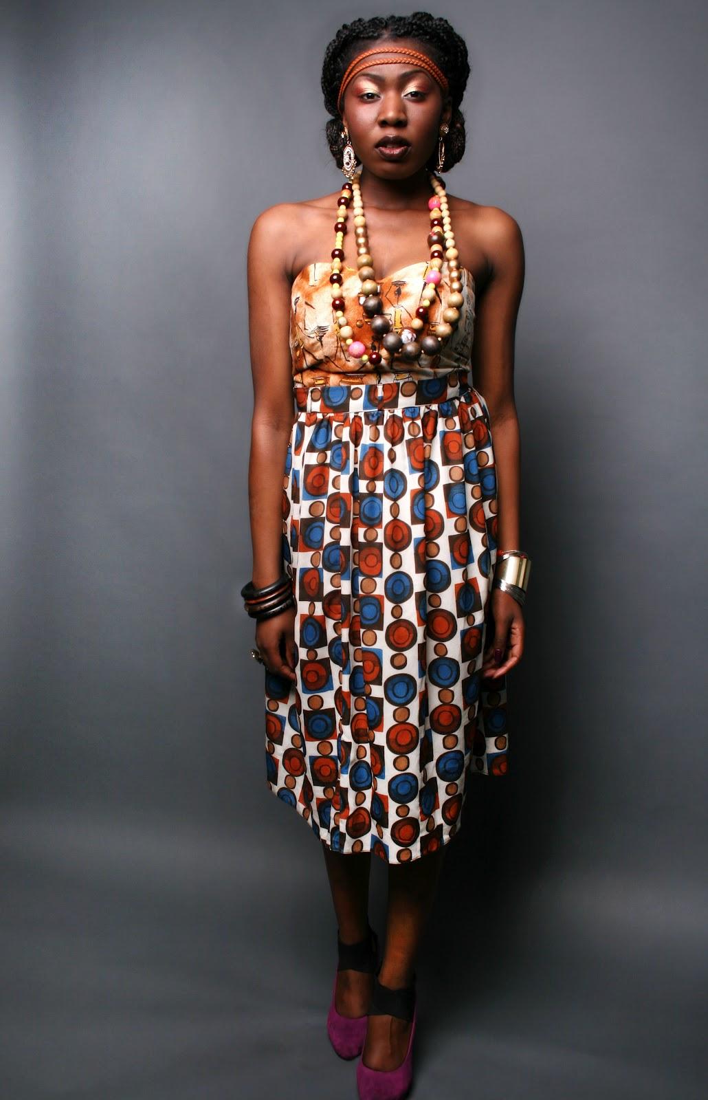 Modern african dresses 2012 african princess walking into