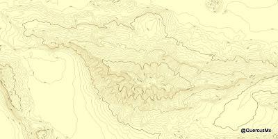 Cerro Viejo - Separación de 30m entre curvas de nivel