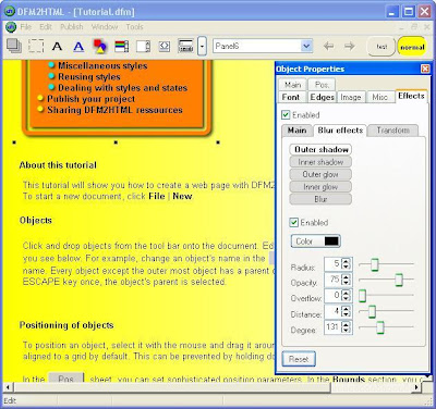 DFM2HTML , HTML Editors, Web Authoring Tools, Website Builder, freewares, windows softwares, Website generators ,