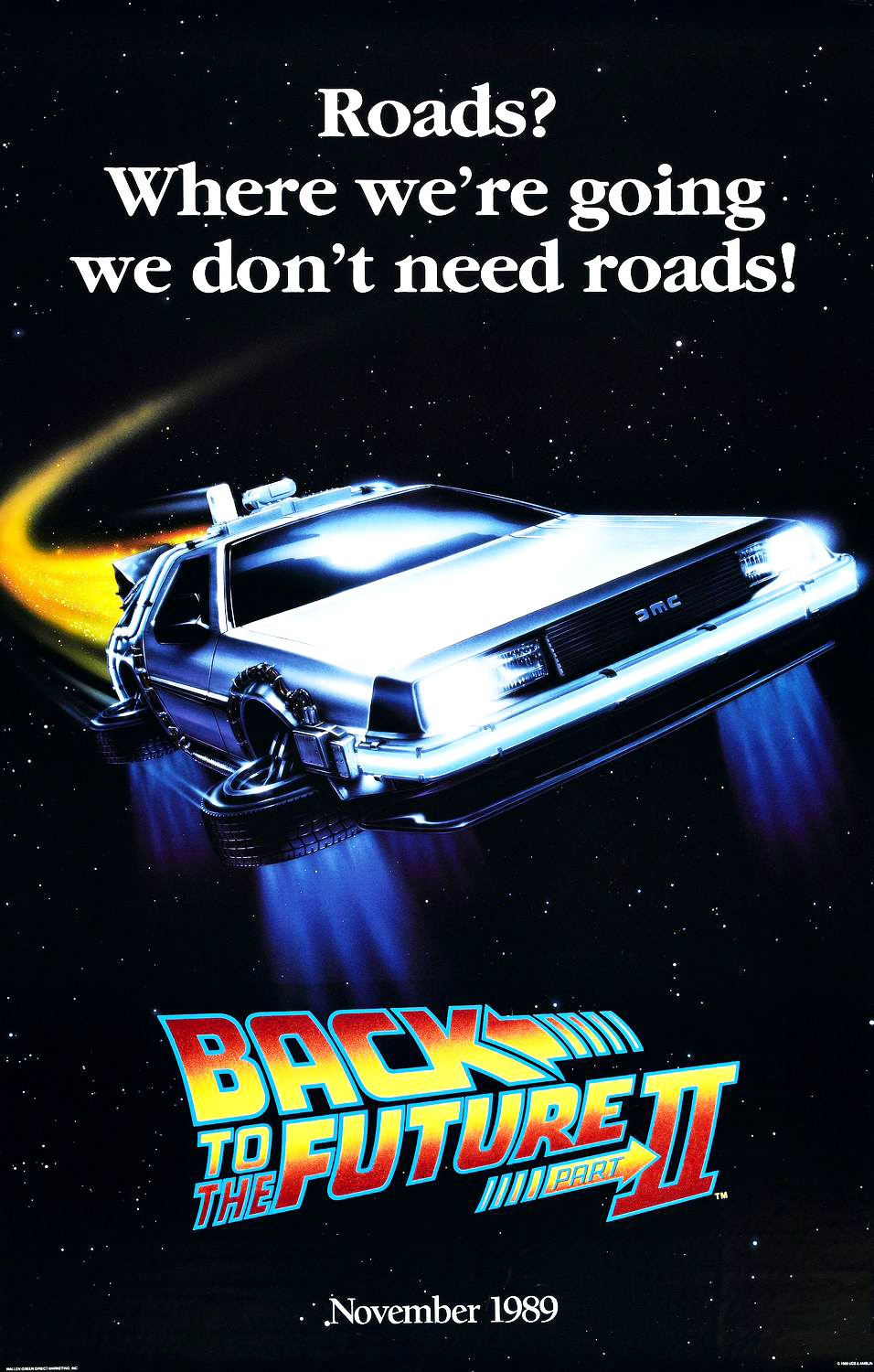 Geeky nerfherder movie poster art back to the future part ii 1989