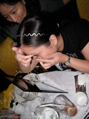 contact lens demo with Dr. Janna