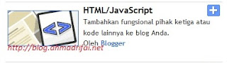 Tutorial Pasang Widget Clock Di Blogger (http://blog.ahmadrifai.net)