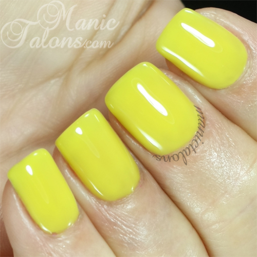 Cuccio Lemon Drop Me a Line Swatch