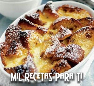 Torta de Pan Inglés , Leche y Mantequilla