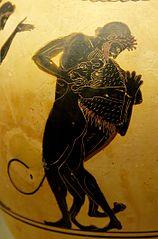 Hercules slaying the  Nemean Lion.