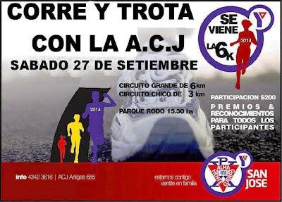 6k Corre y trota con la ACJ en San José (27/sep/2014)