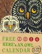 FREE 2014 Owl Calendar