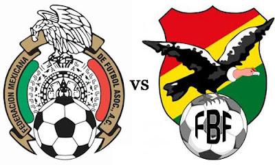 Trasmision en vivo México vs Bolivia