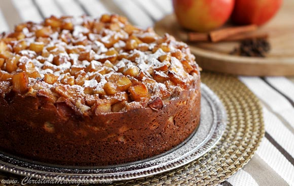 Scientifically Sweet Spiced Apple Cream Cheese Coffee Cake