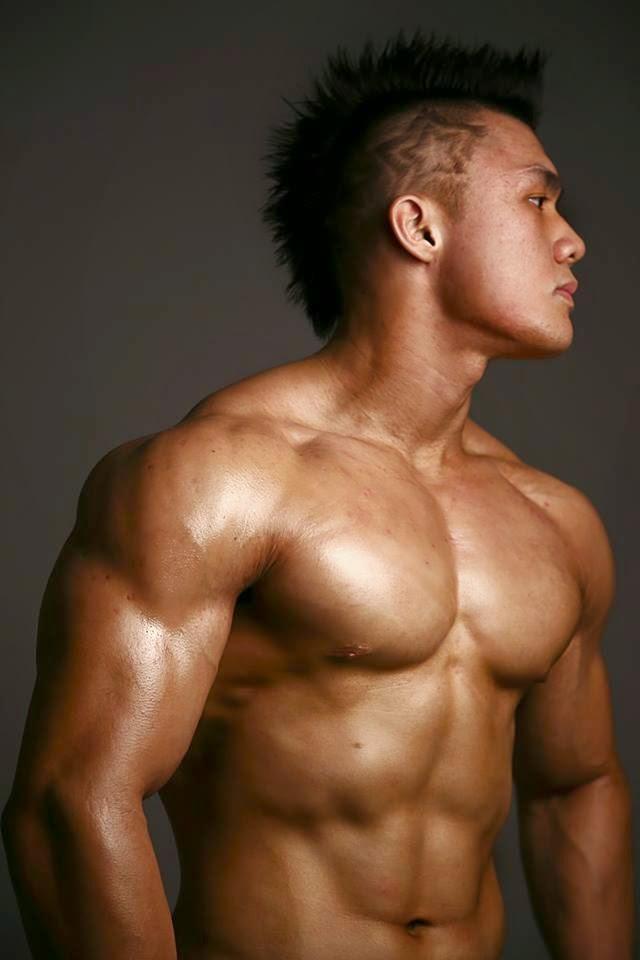 Asian muscle man