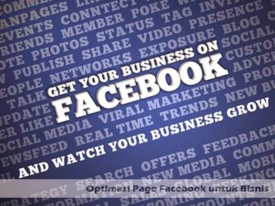 optimasi page facebook untuk bisnis