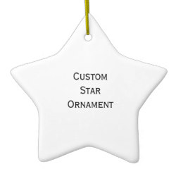 Custom Star Photo Christmas Ornament