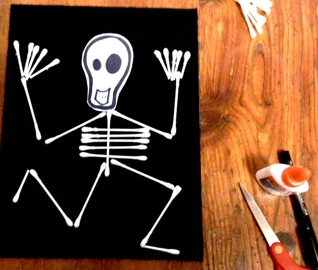 Skeleton Kids Halloween Crafts