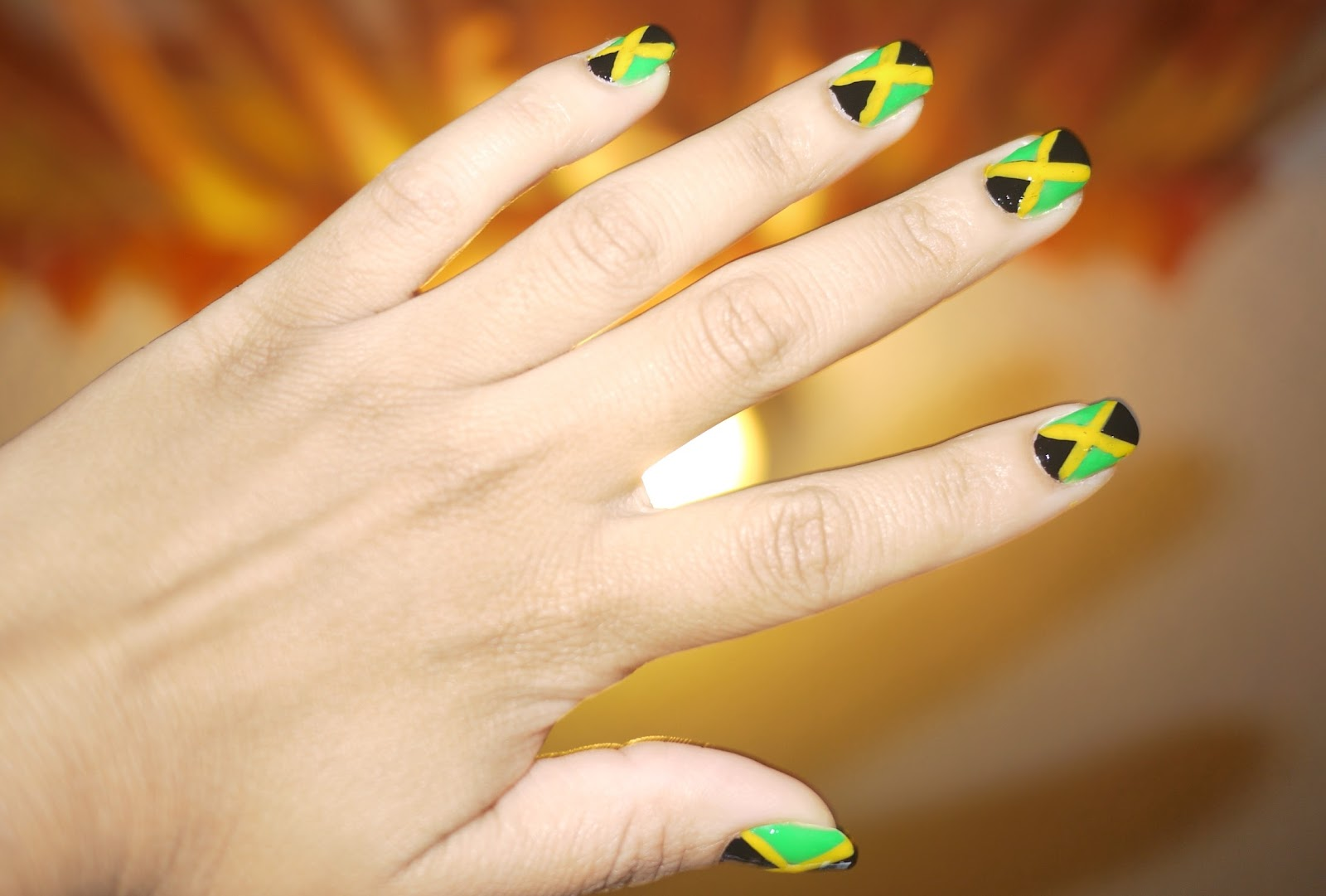AngelaPanama.com: Jamaica flag nails