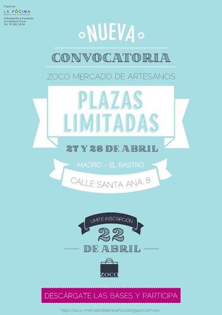 Convocatoria Zoco Mercado de Artesanos Abril