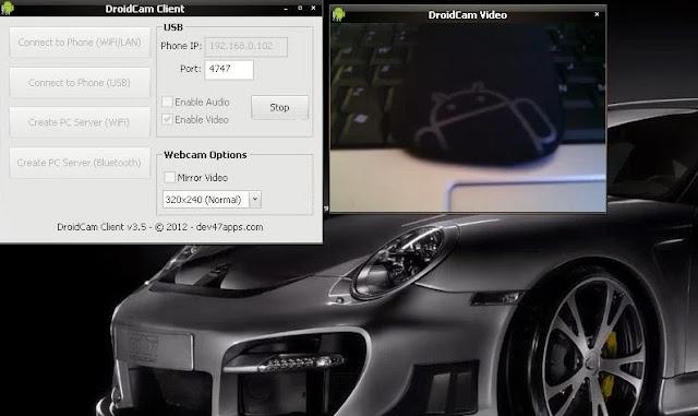 DroidCam - desktop komponenta