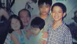 The young Alden with his family.