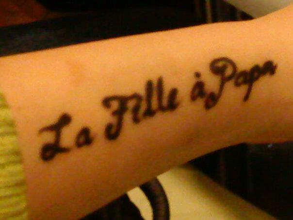 wordstrings some french tattoo