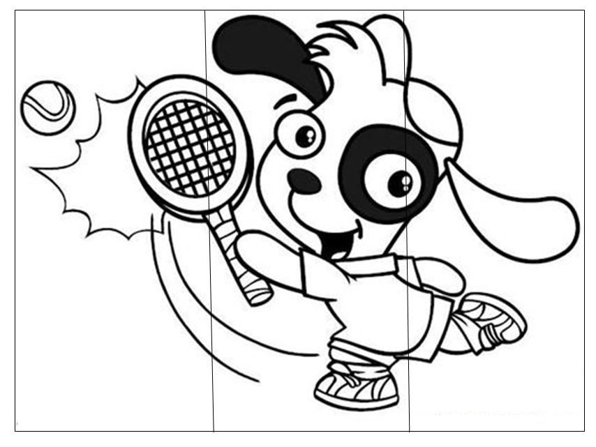 Image Result For Badminton Coloring Pages
