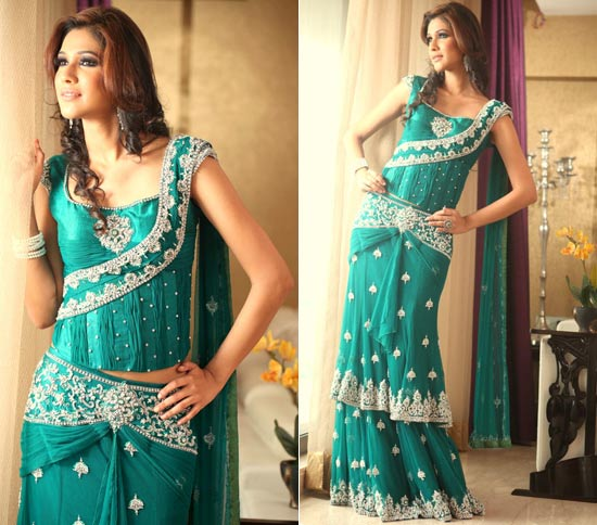 Image result for peacock green brocade lehenga