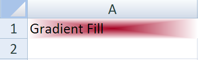 Gradient Fill Excel - Java Output