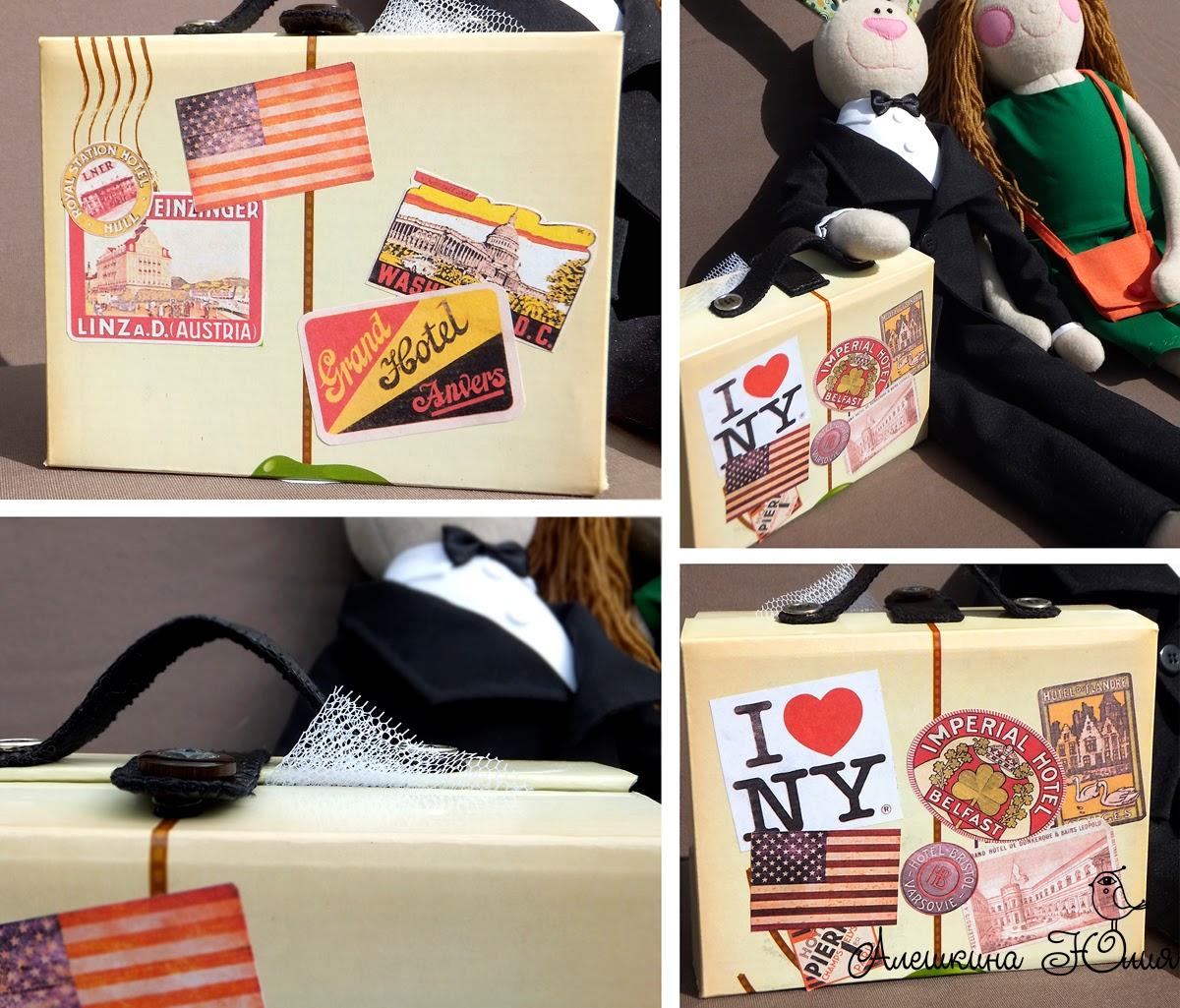 Игрушечный чемодан, наклейки на чемодан, чемодан в наклейках