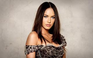 Megan Fox Sensual Lips Blue Eyes HD Wallpaper
