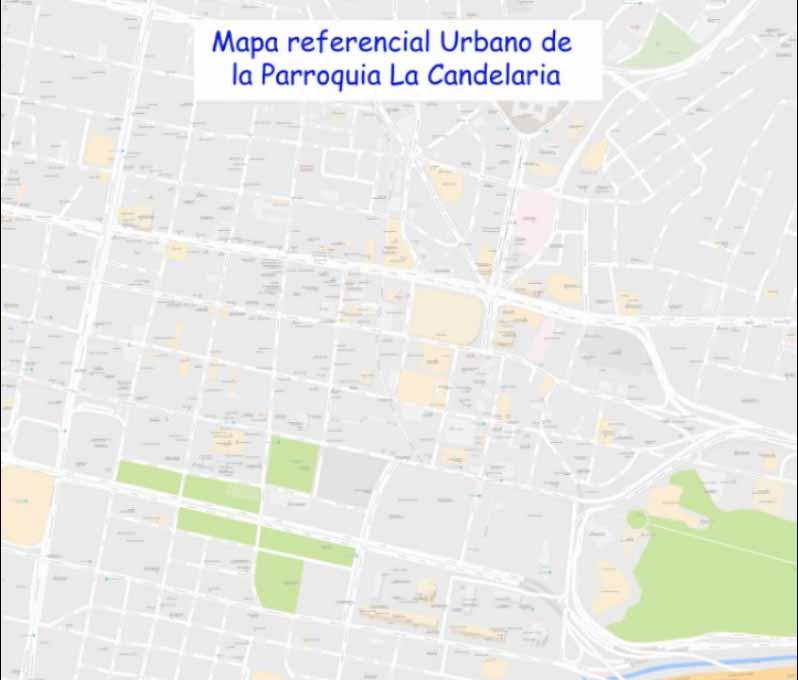Mapa Referencial Urbano de La Candelaria