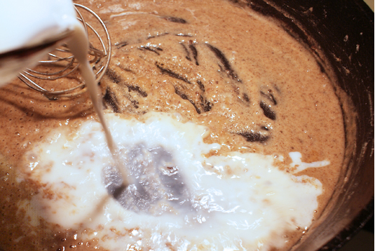 Milk, salt and pepper are added to make the perfect gravy