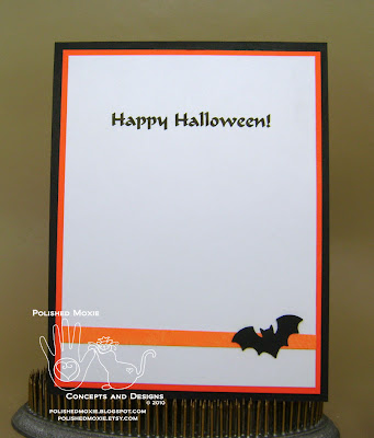 Picture of the of the inside of my handmade bats Halloween card