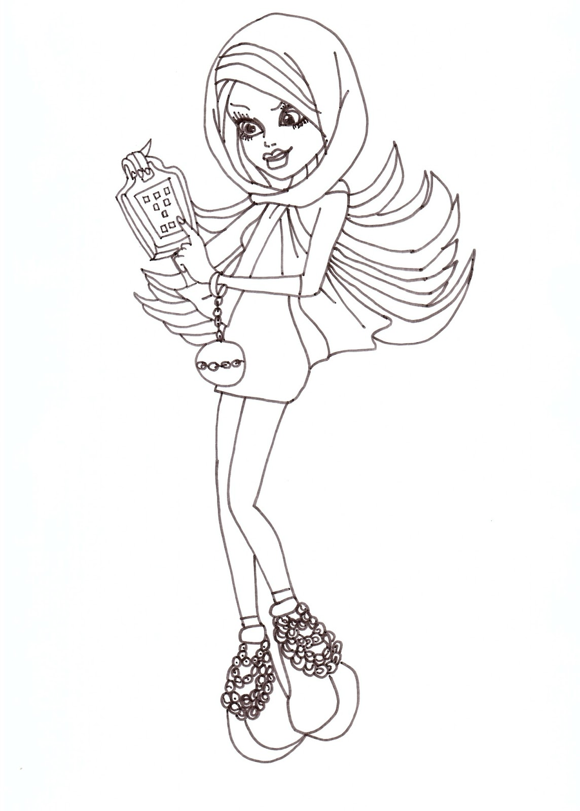 free printable monster high coloring pages spectra free coloring