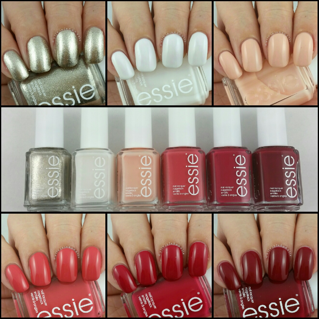 Olivia Jade Nails: Essie Winter 2015 Collection - Swatches & Review
