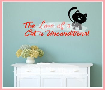 The Love of a Cat Wall Decal